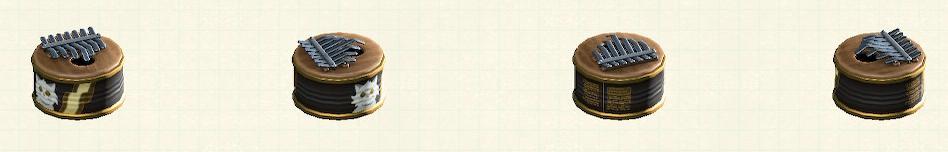 あつ森の空き缶カリンバのリメイクペットフードの缶パターン