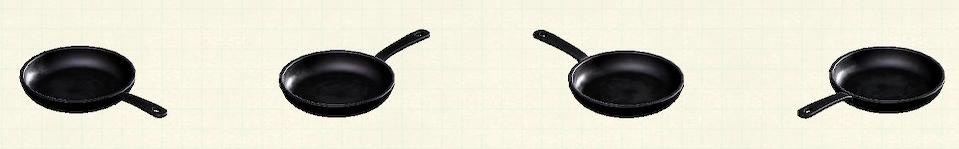 あつ森のフライパンのリメイク調理前パターン