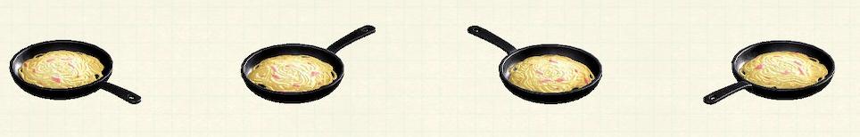 あつ森のフライパンのリメイクパスタパターン