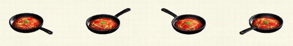 あつ森のフライパンのリメイクラタトゥイユパターン