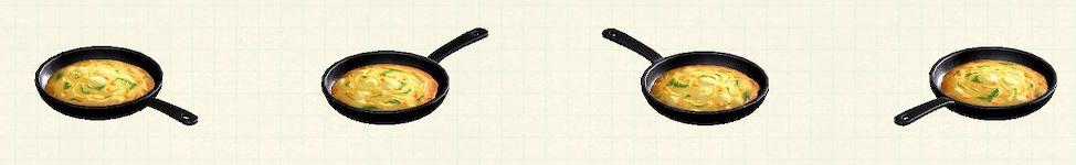 あつ森のフライパンのリメイクピザパターン