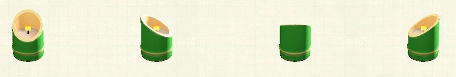 あつ森の竹のキャンドルホルダーのリメイク青竹パターン