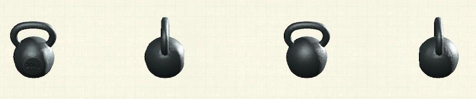 あつ森のケトルベルのリメイクブラックパターン