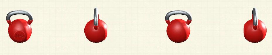 あつ森のケトルベルのリメイクレッドパターン