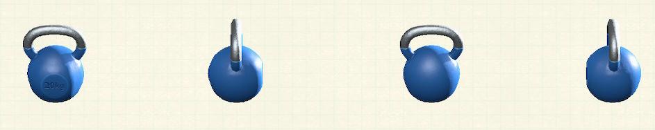 あつ森のケトルベルのリメイクブルーパターン