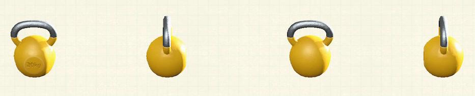 あつ森のケトルベルのリメイクイエローパターン