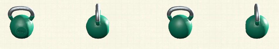 あつ森のケトルベルのリメイクグリーンパターン