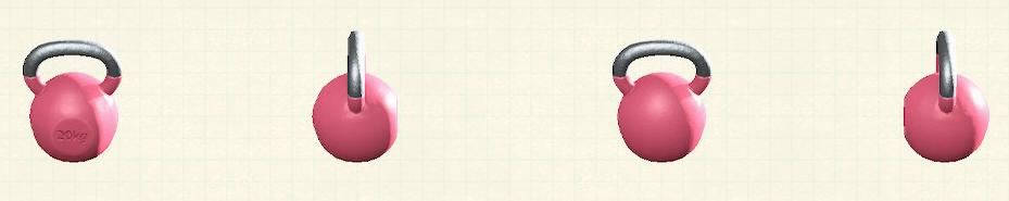 あつ森のケトルベルのリメイクピンクパターン