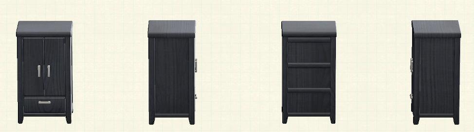 あつ森の木製クロゼットのリメイクブラックパターン