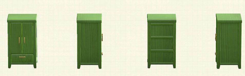 あつ森の木製クロゼットのリメイクグリーンパターン