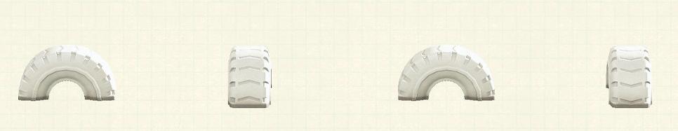 あつ森のタイヤの遊具のリメイクホワイトパターン