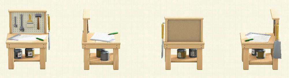 あつ森の小さなDIY作業台のリメイクナチュラルパターン