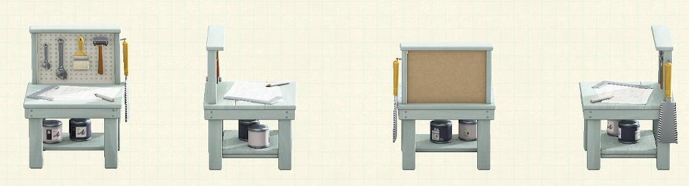 あつ森の小さなDIY作業台のリメイクグレーパターン