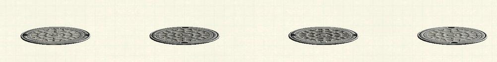あつ森のマンホールのリメイクシルバーパターン