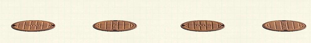 あつ森のマンホールのリメイクブロンズパターン