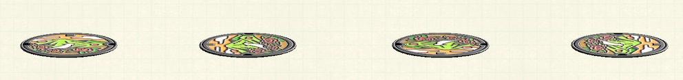 あつ森のマンホールのリメイク山パターン
