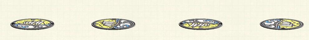あつ森のマンホールのリメイク舟パターン