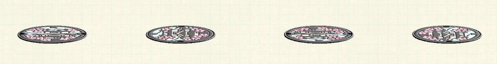 あつ森のマンホールのリメイク城パターン