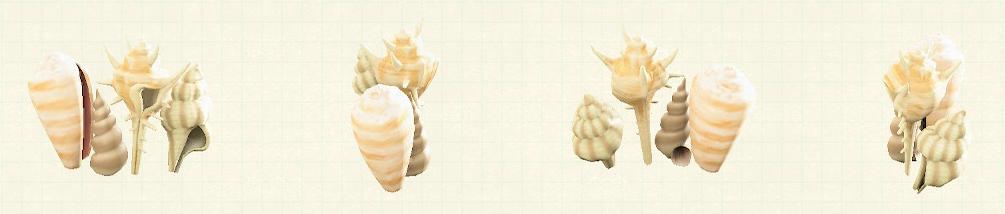 あつ森の貝殻のスクリーンのリメイクホワイトパターン