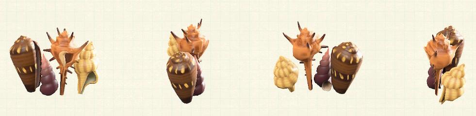 あつ森の貝殻のスクリーンのリメイクブラウンパターン