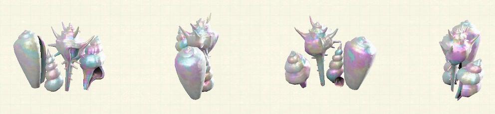 あつ森の貝殻のスクリーンのリメイクパールパターン