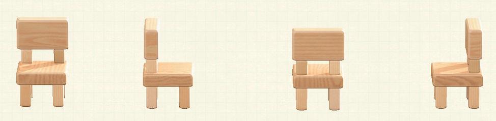 あつ森のつみきチェアのリメイクナチュラルパターン