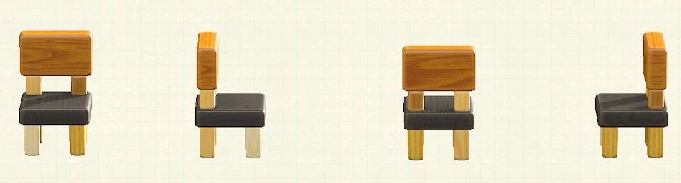 あつ森のつみきチェアのリメイクミックスウッドパターン