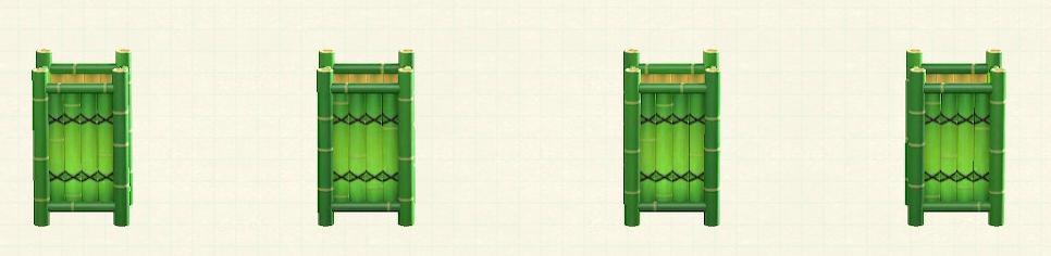 あつ森の竹のフロアスタンドのリメイク青竹パターン