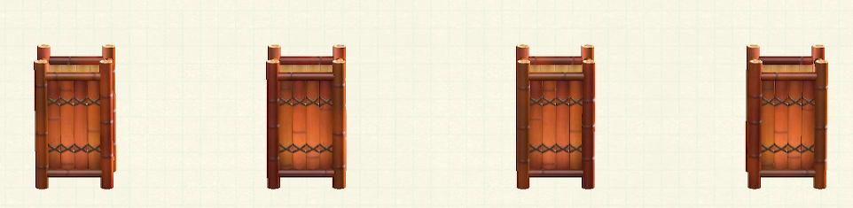 あつ森の竹のフロアスタンドのリメイク煤竹パターン