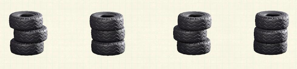 あつ森のつまれたタイヤのリメイクブラックパターン
