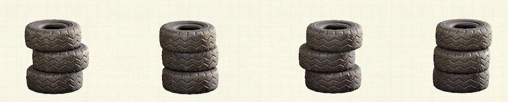 あつ森のつまれたタイヤのリメイクオールドパターン