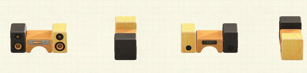 あつ森のつみきコンポのリメイクミックスウッドパターン