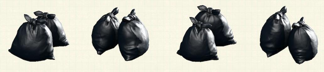 あつ森のゴミ袋のリメイクブラックパターン