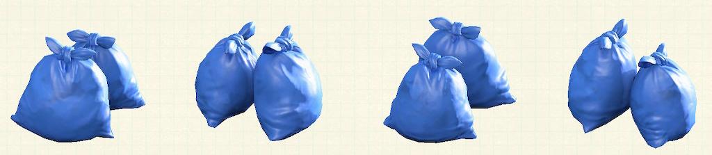 あつ森のゴミ袋のリメイクブルーパターン