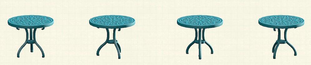 あつ森のアイアンガーデンテーブルのリメイクブルーパターン