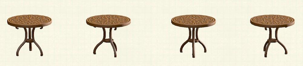 あつ森のアイアンガーデンテーブルのリメイクブラウンパターン
