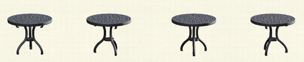あつ森のアイアンガーデンテーブルのリメイクブラックパターン