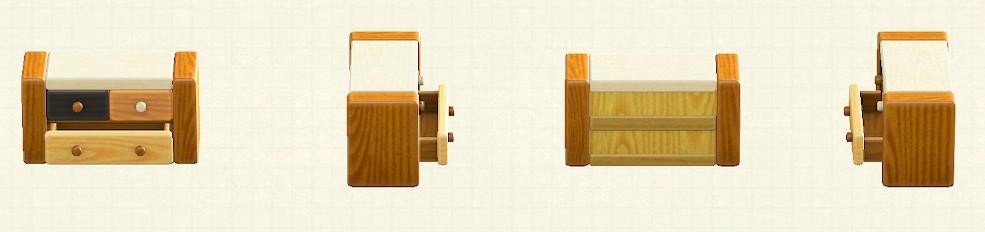 あつ森のつみきチェストのリメイクミックスウッドパターン