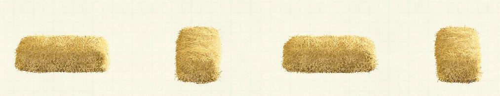 あつ森の干し草のベッドのリメイクブラウンパターン