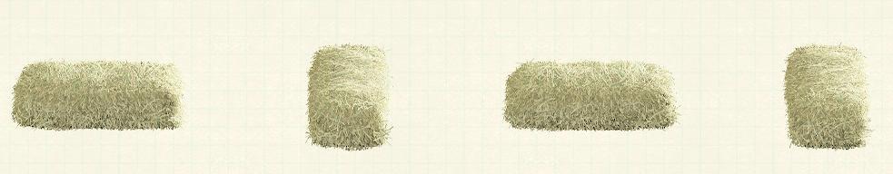 あつ森の干し草のベッドのリメイクペールグリーンパターン