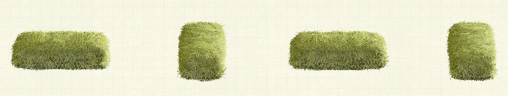 あつ森の干し草のベッドのリメイクグリーンパターン