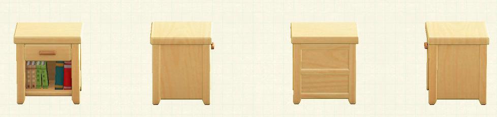 あつ森の木製サイドテーブルのリメイクライトウッドパターン