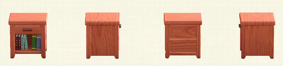 あつ森の木製サイドテーブルのリメイクチェリーウッドパターン
