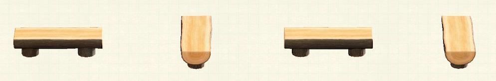あつ森の丸太のベンチのリメイクダークウッドパターン