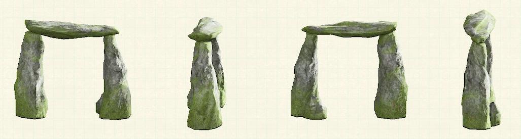 あつ森のストーンアーチのリメイク苔石パターン