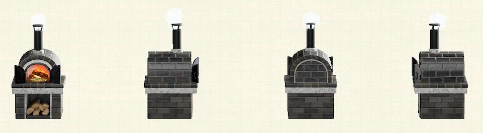 あつ森の石窯のリメイクブラックパターン