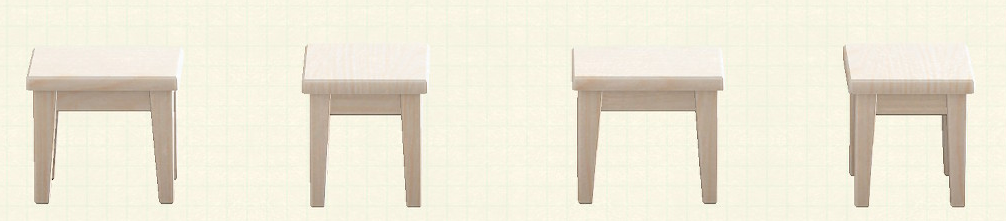 あつ森の木製ミニテーブルのリメイクホワイトウッドパターン