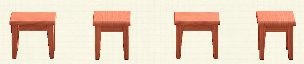 あつ森の木製ミニテーブルのリメイクチェリーウッドパターン
