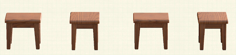 あつ森の木製ミニテーブルのリメイクダークウッドパターン