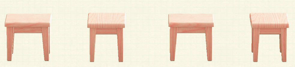 あつ森の木製ミニテーブルのリメイクピンクウッドパターン